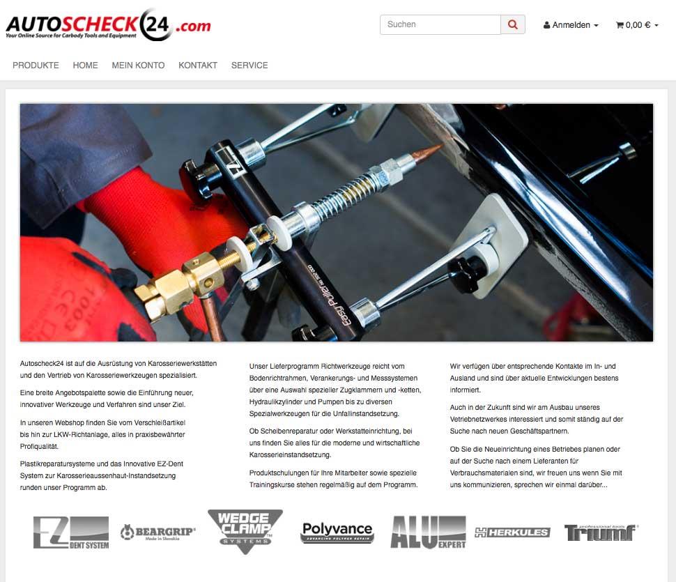Autoscheck24.com - JTL Shop 4 Installation - Einrichtung - Templateanpassung - Münster