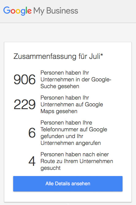 Google My Business Eintragung